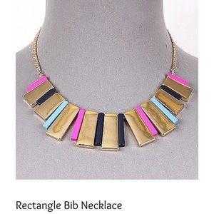 Rectangle Bib Necklace